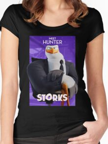 storks meet the hunter Women's Fitted Scoop T-Shirt