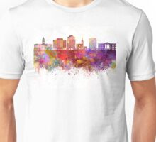 Colorado V2 Springs skyline in watercolor background Unisex T-Shirt