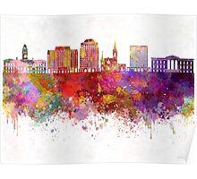 Colorado V2 Springs skyline in watercolor background Poster