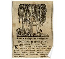 """Feb. 22nd, 1823 Ad for """"BOLLES & HORTON"""" Poster"""