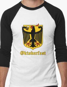 Funny Oktoberfest Germany Crest Parody Men's Baseball ¾ T-Shirt
