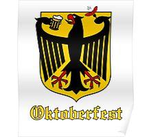 Funny Oktoberfest Germany Crest Parody Poster