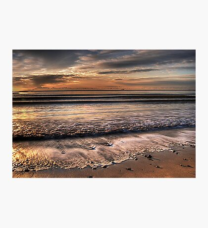 Sunrise at Sandbanks beach in Dorset Photographic Print