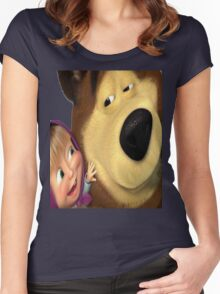 marsha and orso 1 Women's Fitted Scoop T-Shirt