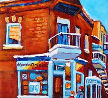 VERDUN DEPANNEUR 7 JOURS WINTER PAINTINGS by Carole  Spandau