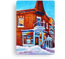 VERDUN DEPANNEUR 7 JOURS WINTER PAINTINGS Canvas Print