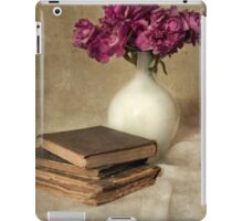 Bouquet of peonies and old books iPad Case/Skin