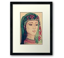 Lady with scarf Framed Print