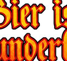 Vintage Classic Bier Ist Wunderbar! Beer Is Wonderful! Sticker