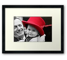 Hat's off to Him. Framed Print