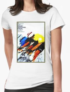 BICYCLE RACING; Vintage European Advertising Print Womens Fitted T-Shirt