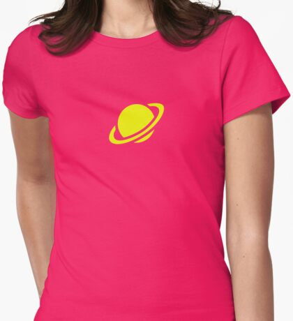 Saturn Girl Lazy Cosplay Womens Fitted T-Shirt
