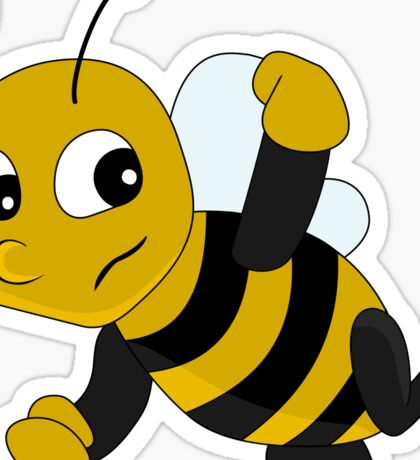 Flying bee cartoon Sticker