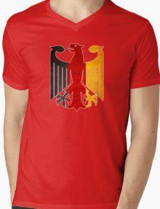 Classic Vintage Germany Flag Crest Mens V-Neck T-Shirt