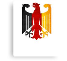 Classic Vintage Germany Flag Crest Canvas Print