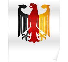 Classic Vintage Germany Flag Crest Poster