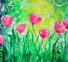 Dancing Tulips by Jan Marvin by Jan Marvin