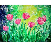Dancing Tulips by Jan Marvin Photographic Print