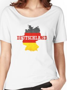 Vintage Classic Deutschland Country With Germany Flag Women's Relaxed Fit T-Shirt
