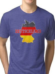 Vintage Classic Deutschland Country With Germany Flag Tri-blend T-Shirt