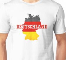 Vintage Classic Deutschland Country With Germany Flag Unisex T-Shirt
