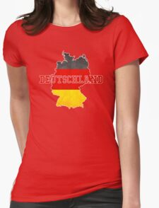 Vintage Classic Deutschland Country With Germany Flag Womens Fitted T-Shirt
