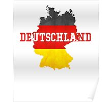 Vintage Classic Deutschland Country With Germany Flag Poster