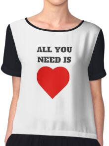 ALL YOU NEED IS LOVE (HEART) Chiffon Top