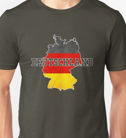 Vintage Classic Deutschland Germany Flag Country Unisex T-Shirt