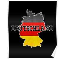 Vintage Classic Deutschland Germany Flag Country Poster