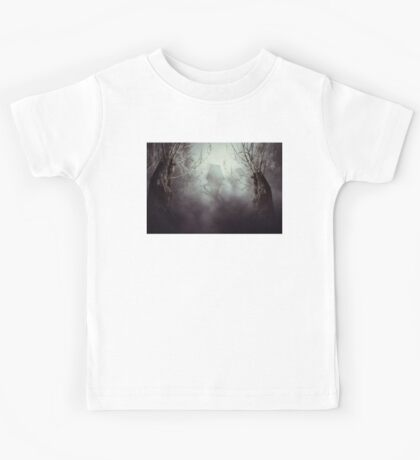 Spooky Witch House in Mist Kids Tee
