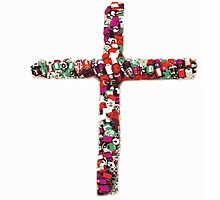 Colorful Cross of Faith by dbdesignart