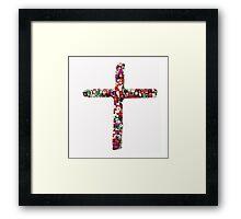 Colorful Cross of Faith Framed Print