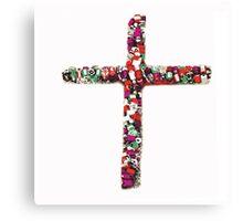 Colorful Cross of Faith Canvas Print
