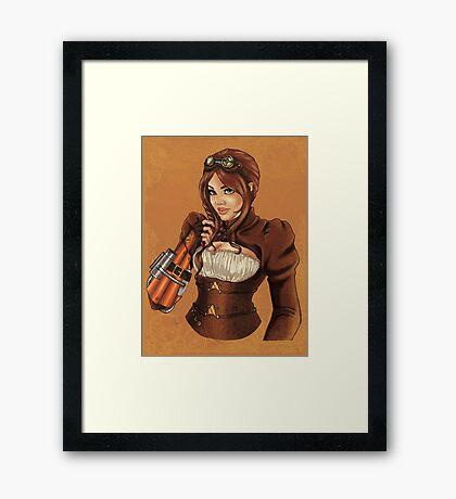 Steampunk Victoria Framed Print