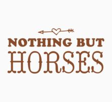 (love) Nothing but horses One Piece - Short Sleeve