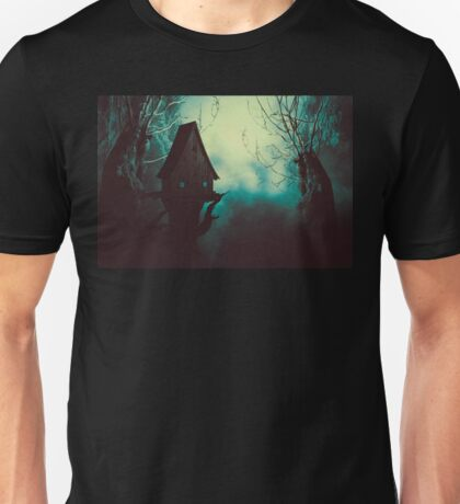 Spooky Witch House in Mist 2 Unisex T-Shirt