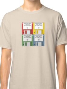 Leisure Suit Larry on 4 floppy discs Classic T-Shirt