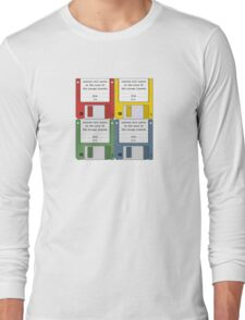 Leisure Suit Larry on 4 floppy discs Long Sleeve T-Shirt