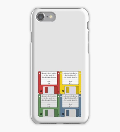 Leisure Suit Larry on 4 floppy discs iPhone Case/Skin