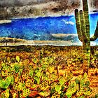 Prickly Pear and Saguaro by Roger Passman