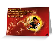 Bruce Lee be like water canvas Greeting Card