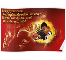 Bruce Lee be like water canvas Poster