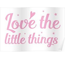 love the little things Poster