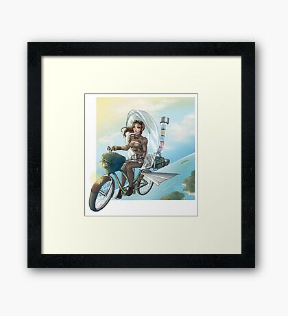 steampunk Victoria Bicicle's Framed Print