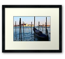 On the Waters of Venice Framed Print