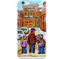 MONTREAL WINTER PAINTINGS iPhone Case/Skin