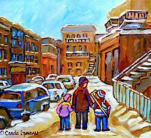 MONTREAL WINTER PAINTINGS by Carole  Spandau