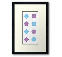 Blue and Lavender pattern Framed Print