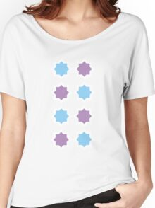 Blue and Lavender pattern Women's Relaxed Fit T-Shirt